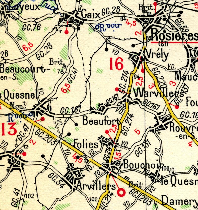 LA GARE  Michelin-1929-Rosieres-à-Arvillers