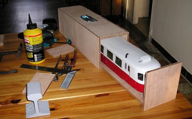 boite de rangement locomotive vapeur Ho  File